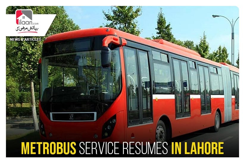 Metrobus service resumes in Lahore