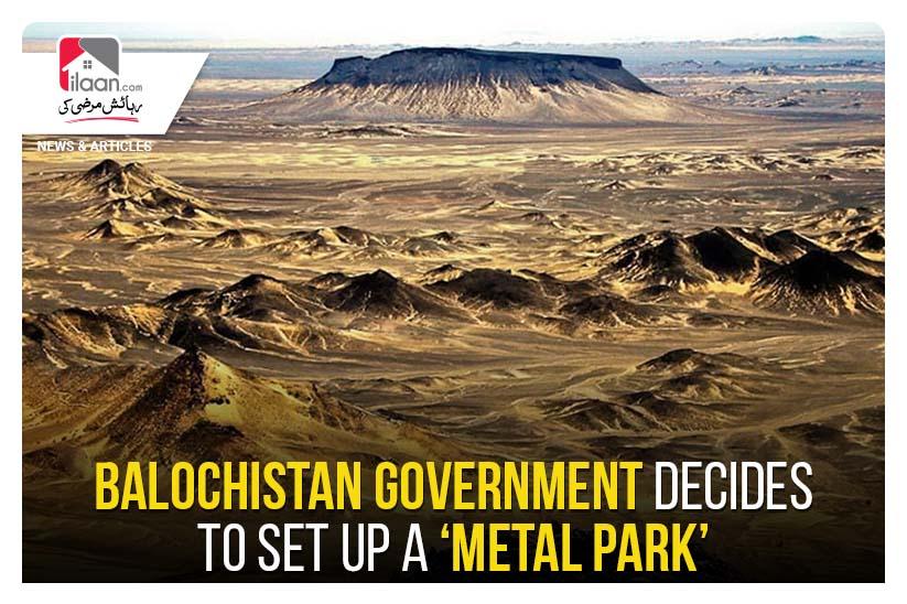 Balochistan government decides to set up a 'Metal Park'