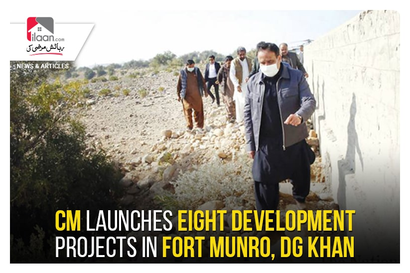 CM launches eight development projects in Fort Munro, DG Khan