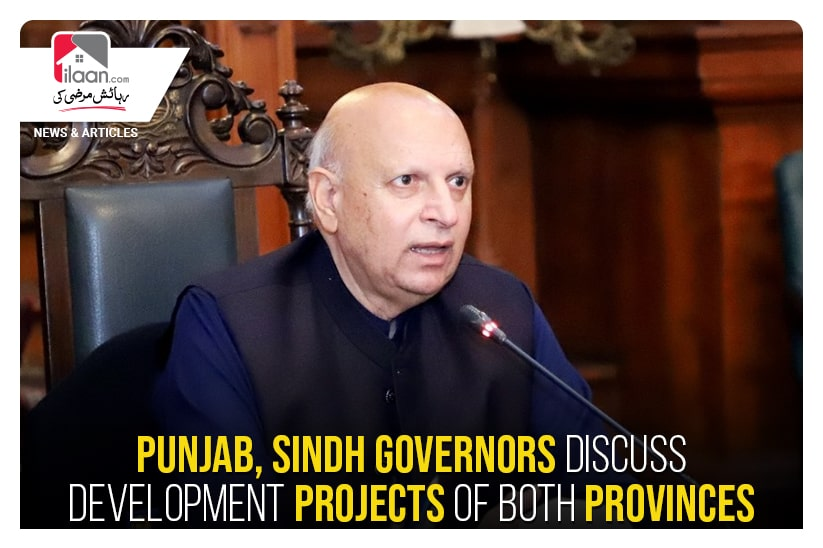 Punjab, Sindh governors discuss development projects of both provinces