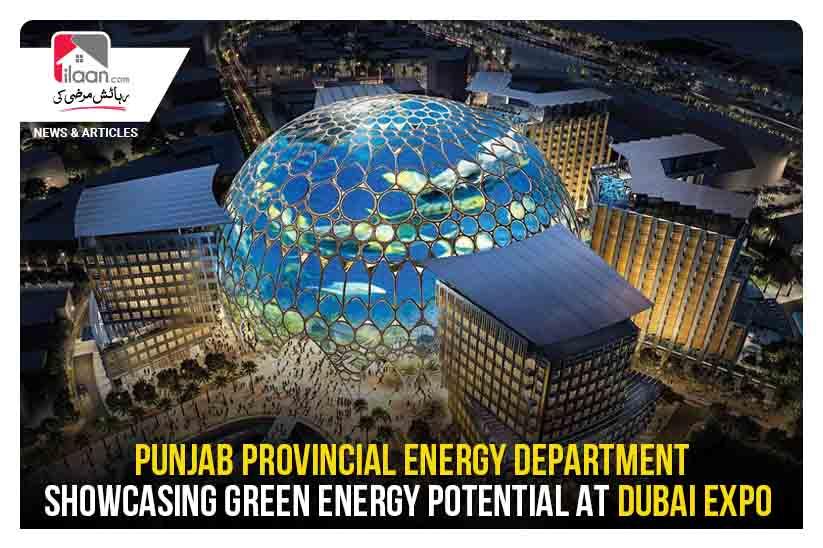 Punjab Provincial Energy Department showcasing green energy potential at Dubai Expo