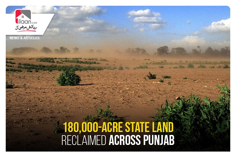 180,000-acre state land reclaimed across Punjab