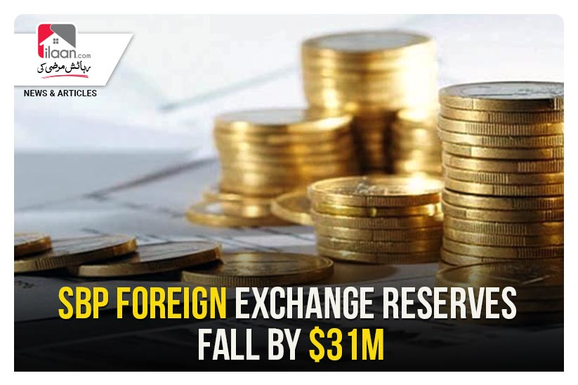 SBP foreign exchange reserves fall by $31m