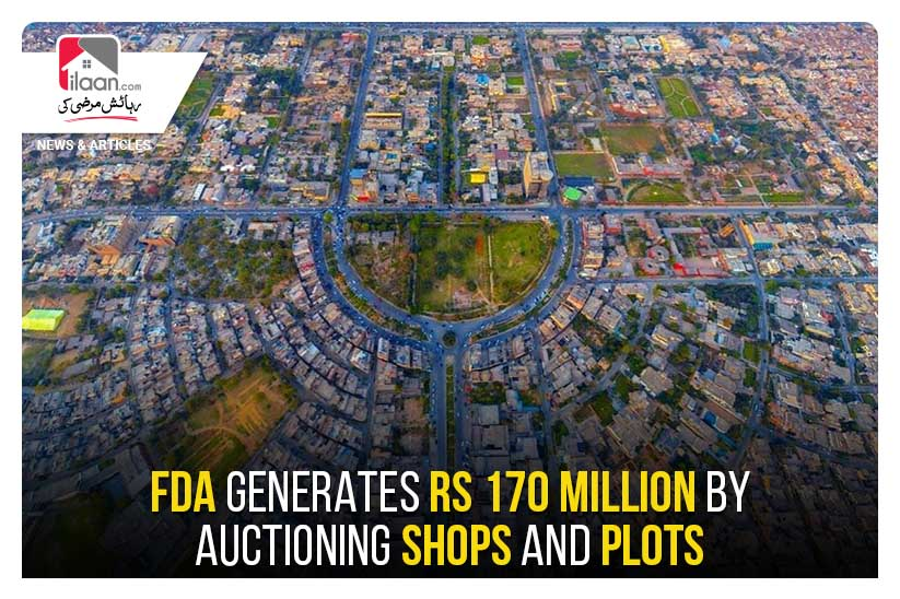 FDA generates Rs 170 million by auctioning shops and plots