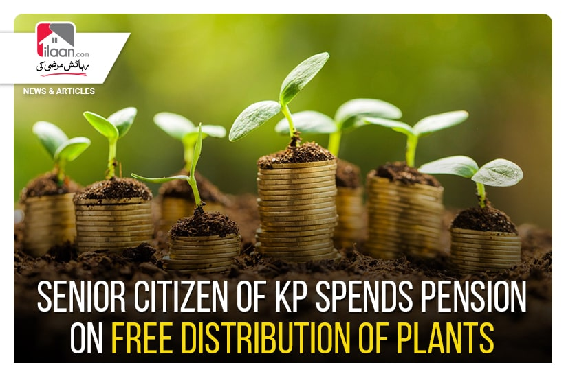 Senior citizen of KP spends pension on free distribution of plants