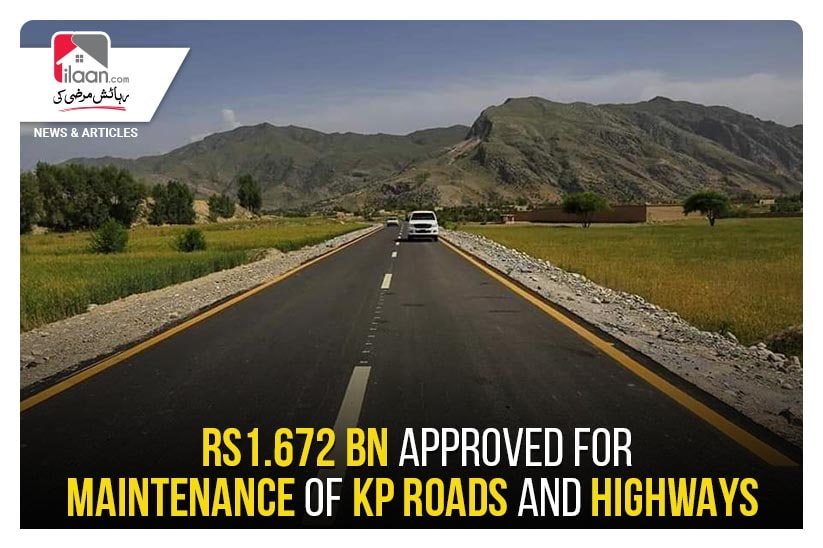 Rs1.672 bn approved for maintenance of KP roads and highways