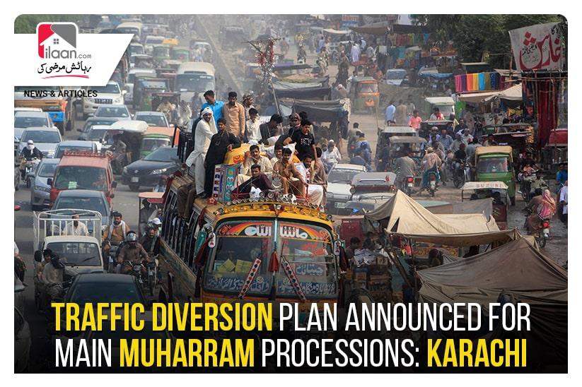 Traffic diversion plan announced for main Muharram processions: Karachi