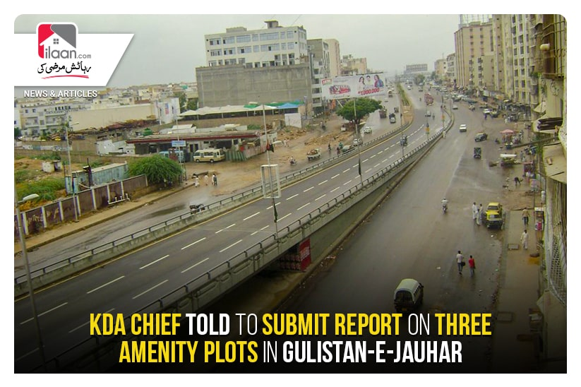 KDA chief told to submit report on three amenity plots in Gulistan e jauhar