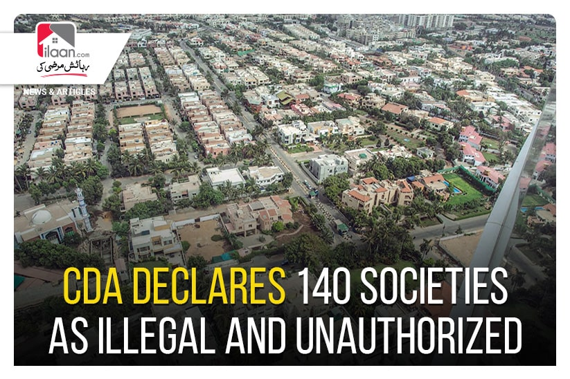 CDA declares 140 societies as illegal and unauthorized