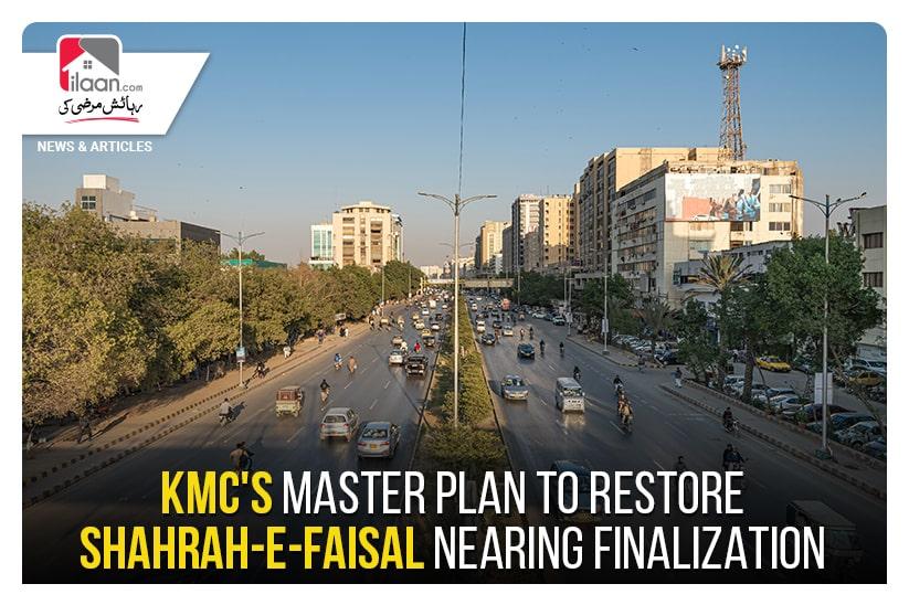KMC's master plan to restore Shahrah-e-Faisal nearing finalization