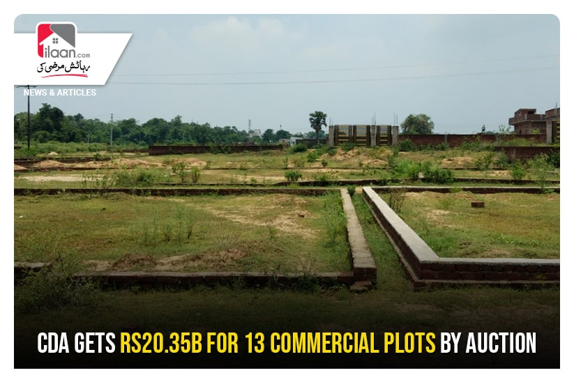 CDA gets Rs20.35b for 13 commercial plots by auction