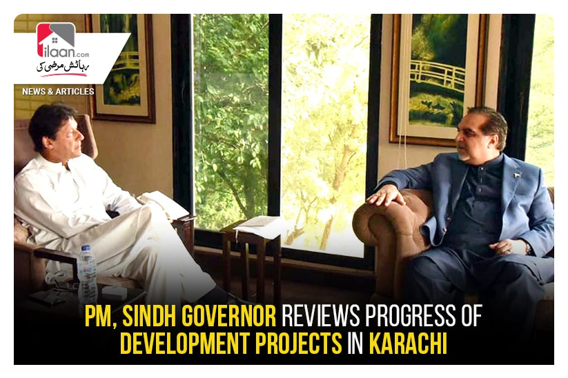 PM, Sindh governor reviews progress of development projects in Karachi