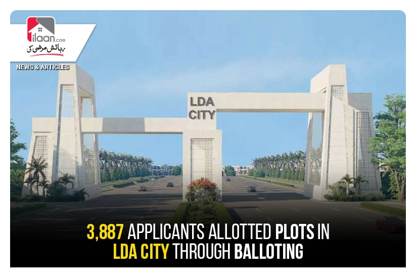 3,887 applicants allotted plots in LDA City through balloting