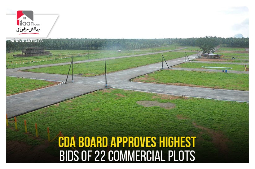 CDA board approves highest bids of 22 commercial plots