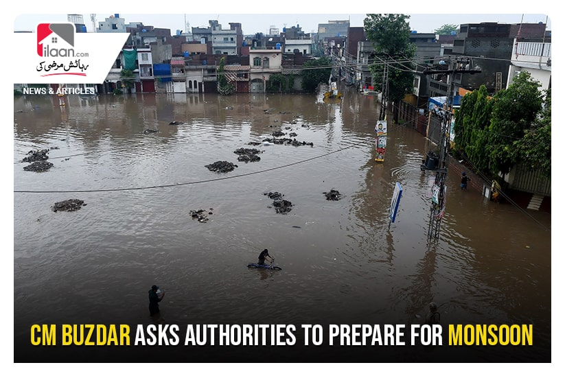CM Buzdar asks authorities to prepare for Monsoon