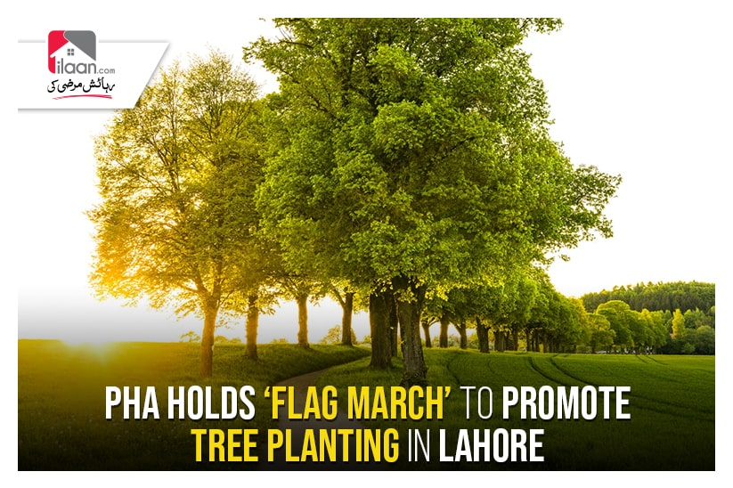 PHA holds 'flag march' to promote tree planting in Lahore