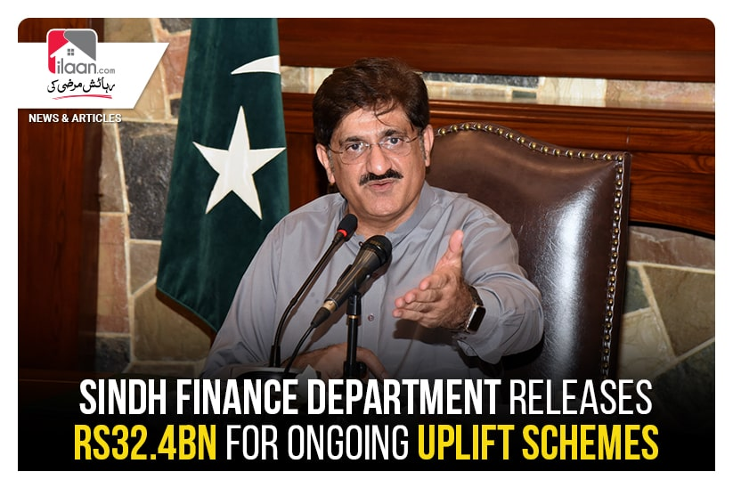 Sindh Finance Department releases Rs32.4bn for ongoing uplift schemes
