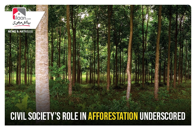 Civil society's role in afforestation underscored