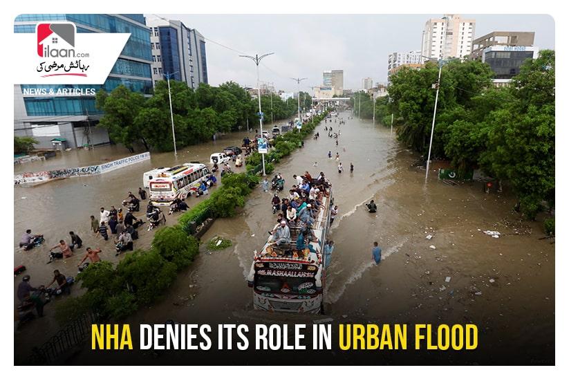 NHA denies its role in urban flood