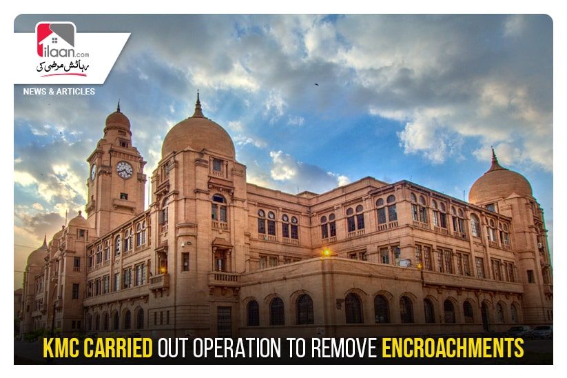 KMC carried out operation to remove encroachments