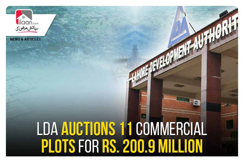 LDA auctions 11 commercial plots for Rs. 200.9 million
