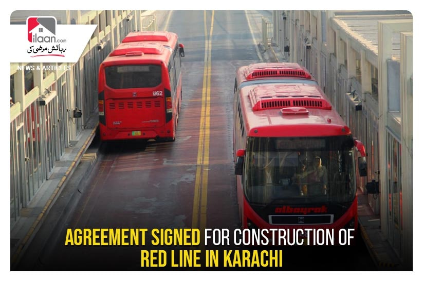 Agreement signed for construction of Red Line in Karachi