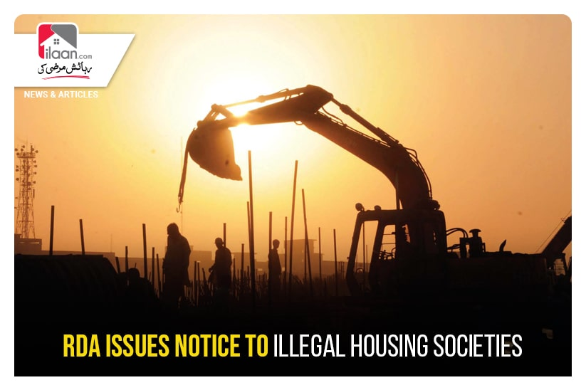 RDA issues notice to illegal housing societies