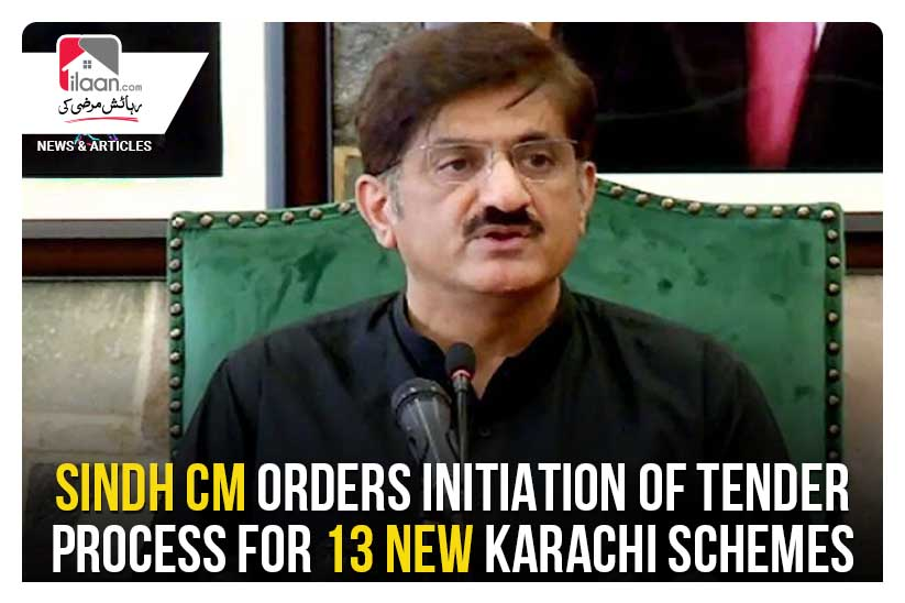 Sindh CM orders initiation of tender process for 13 new Karachi schemes