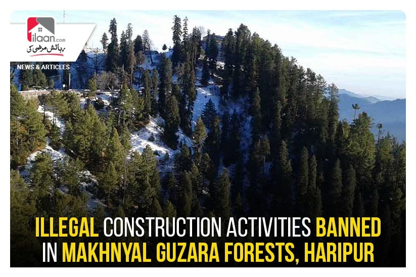 Illegal construction activities banned in Makhnyal Guzara Forests, Haripur