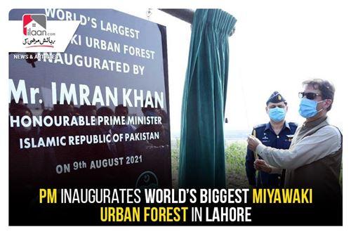 PM inaugurates world's biggest Miyawaki urban forest in Lahore
