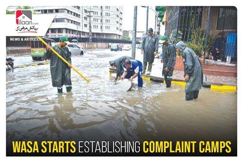 WASA starts establishing complaint camps