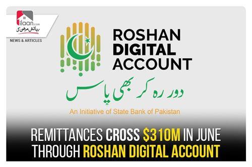 Remittances in June cross $310m in June through Roshan Digital Account