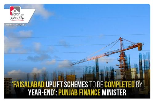 Faisalabad uplift schemes to be completed by year-end': Punjab Finance Minister