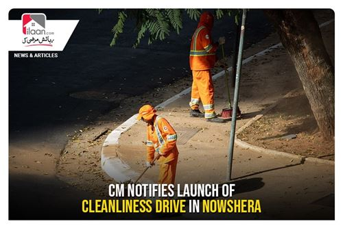 CM notifies launch of cleanliness drive in Nowshera