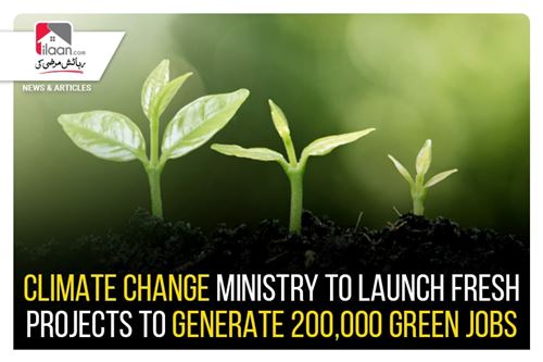 Climate change ministry to launch fresh projects to generate 200,000 green jobs