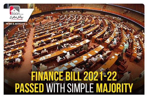 Finance Bill 2021-22 passed with simple majority