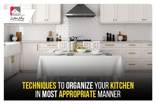 TECHNIQUES TO ORGANIZE YOUR KITCHEN IN MOST APPROPRIATE MANNER