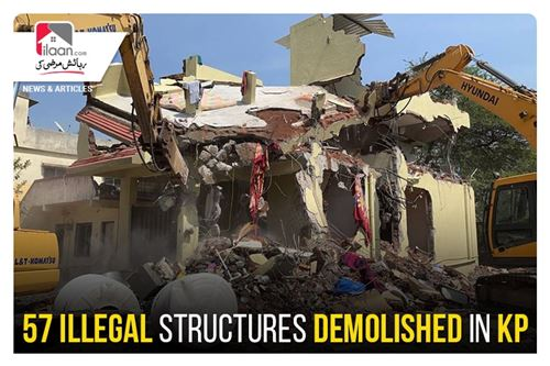 57 illegal structures demolished in KP