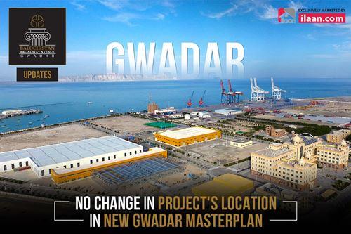 The Location of Balochistan Broadway Avenue remains unchanged in Gwadar Masterplan 2019-2050