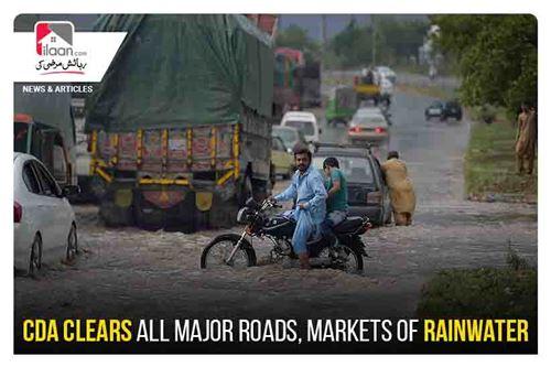 CDA clears all major roads, markets of rainwater