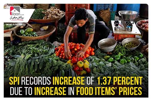 SPI records increase of 1.37 percent due to increase in food items' prices