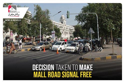 Decision taken to make Mall Road signal free