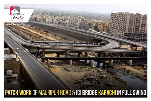 Patch work of Mauripur Road & ICI Bridge Karachi in full swing