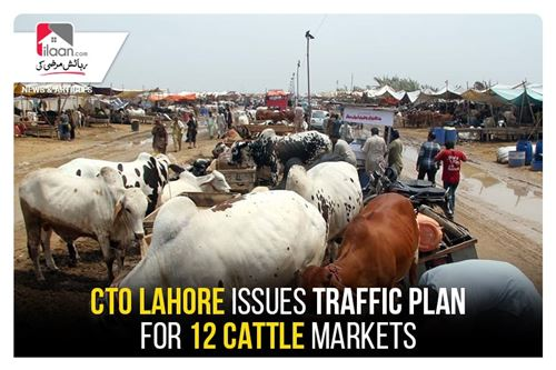 CTO Lahore issues traffic plan for 12 cattle markets
