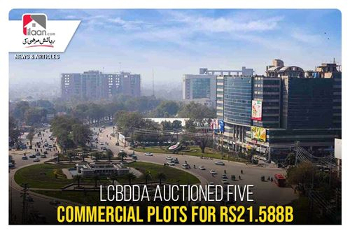 LCBDDA auctioned five commercial plots for Rs21.588b
