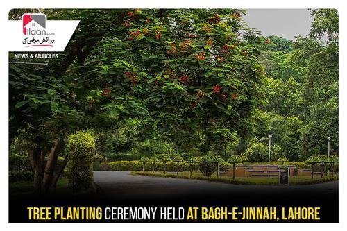 Tree planting ceremony held at Bagh-e-Jinnah, Lahore