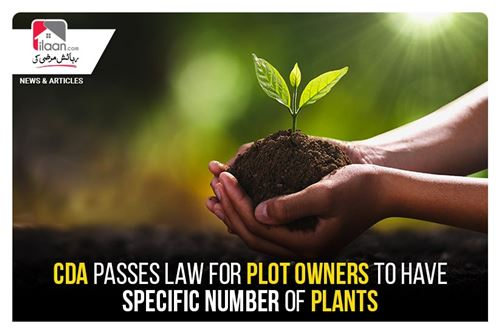 CDA passes Law for plot owners to have specific number of plants